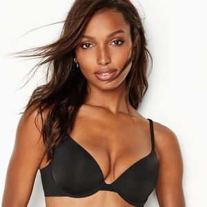Victoria's Secret T-Shirt Push Up Black Bra 36E✨
